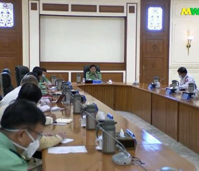 Tatmadaw in Minister thar phuang